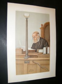 Vanity Fair Print 1899 Franklin Lushington, Legal